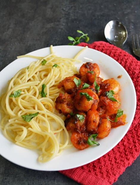 Spicy Sriracha shrimp steps and procedures