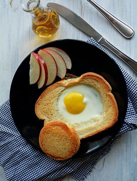 Baked Egg Bread Slices, perfect breakfast dish for kids
