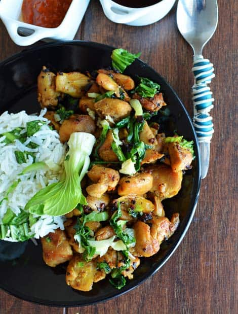 Sauteed Chicken with Bok Choy Recipe