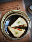 BAKERY STYLE MASALA BREAD SANDWICH RECIPE