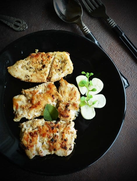 Pan fried Garlic Chicken Recipe