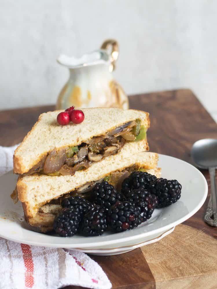 Philly styled mushroom Sandwich- Vegan Recipe