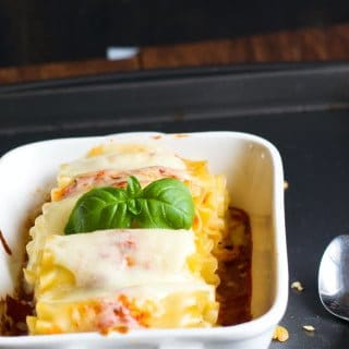 easy meatless lasagna roll ups recipe