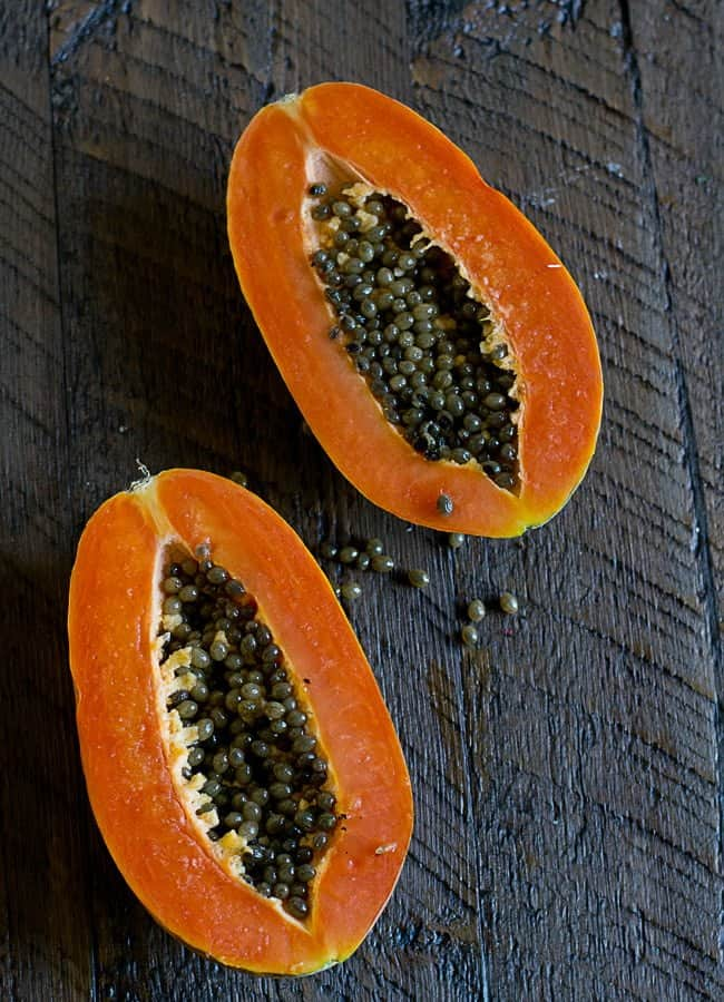 how to cut papaya