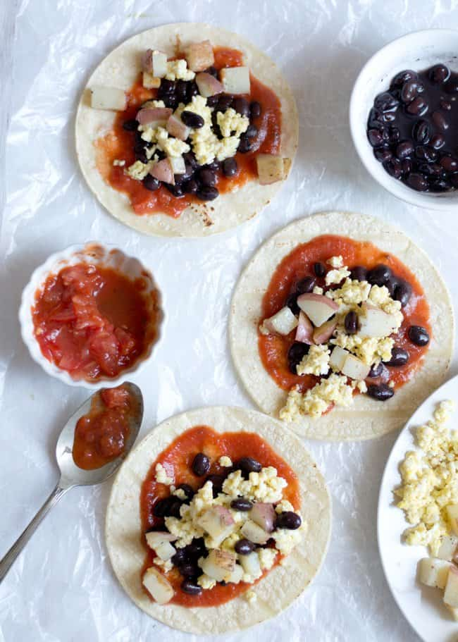 Easy Taco Breakfast with Black Bean