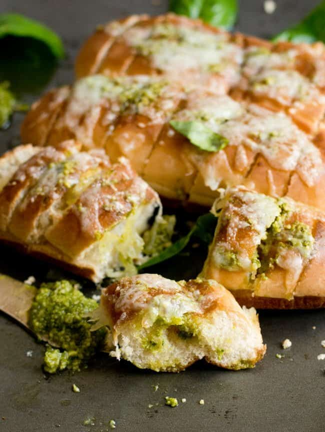 To make Pesto garlic bread healthy, skip buying ready made pesto and start making your own effortlessly with this easy recipe.