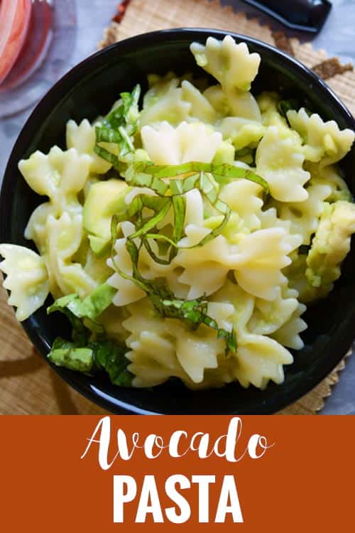 Creamy Avocado Pasta Recipe easy and healthy made quick under less than 20 minutes. The sauce is made healthy with no cheese and no blender. A best low carb and vegan homemade food. Make it spicy by adding a green chili and lemon.