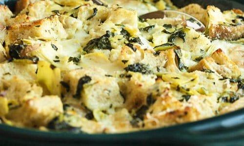 spinach-artichoke-bread-pud