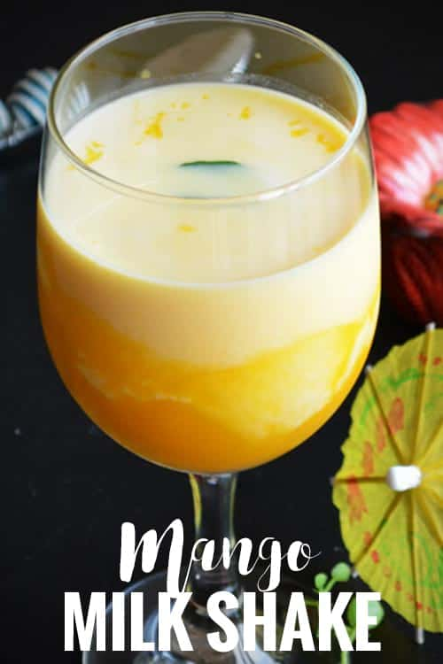 Mango Milkshake Recipe, made with canned mango pulp and almond milk. A perfect summer drink for everyone. It tastes yummy even without adding ice cream. This delicious summer drink is easy, simple and quick to make.