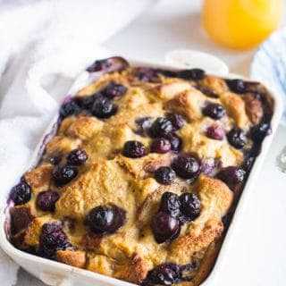 French Toast Breakfast Casserole Blueberries