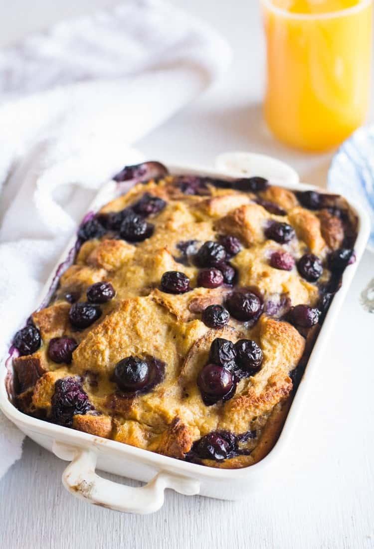 French Toast Breakfast Casserole Blueberries