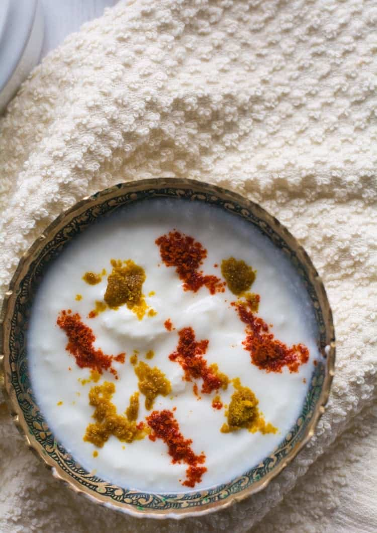 Masala Raita Recipe, made with curd/yogurt and with few spice powders. It's an instant and quick that can be made just a few minutes before serving.