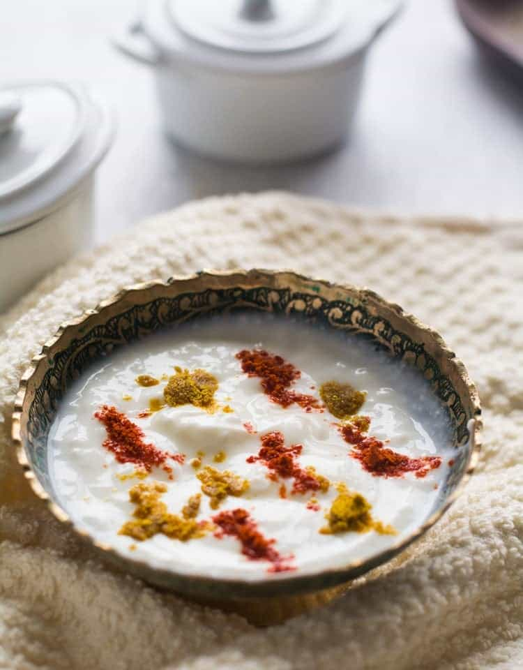 Masala raita, a delicious side dish from Indian cuisine, best to serve with the spicy main dish. This spicy dipping sauce made with yogurt and masala mix.