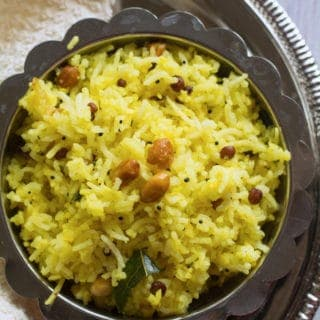 Easy Chitranna Rice Recipe - karnataka's popular dish