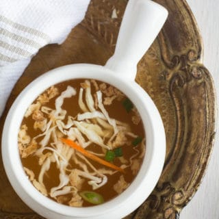 Hibachi Soup – Homemade and Vegan