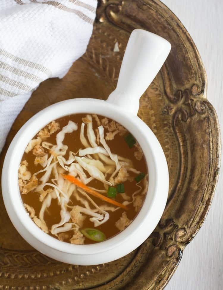 Hibachi Soup recipe is easy to make at home with vegetable broth and fresh vegetables. Very healthy, low carb, gluten free which is best for all ages.