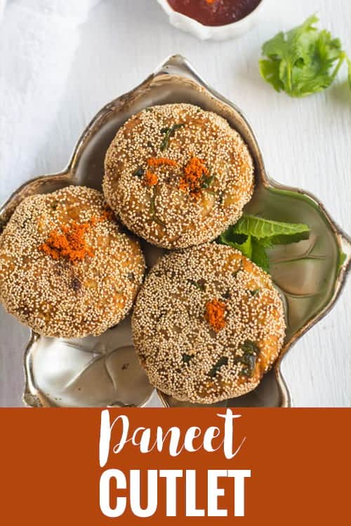 Learn how to make paneer Cutlet recipe with step by step pictures. This crispy tikki is made with paneer / cottage cheese and potatoes, perfect for tea time. Would be a great appetizer or starters for parties.
