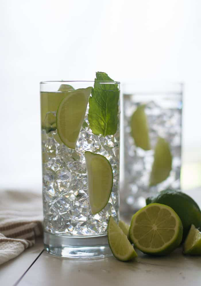 Non alcoholic Mojito Recipe in multiple glass