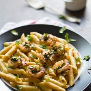Creamy Shrimp Pasta with Cilantro Lime sauce, easier to make whenever you quench of exotic food but simpler to make. Here you will also find how to make this recipe in less than 15 minutes.