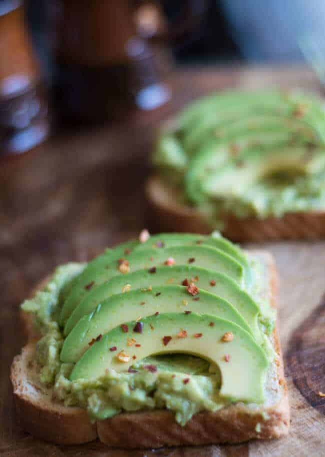 Avocado Toast for Breakfast, vegan, healthy made with fresh avocados and lime.