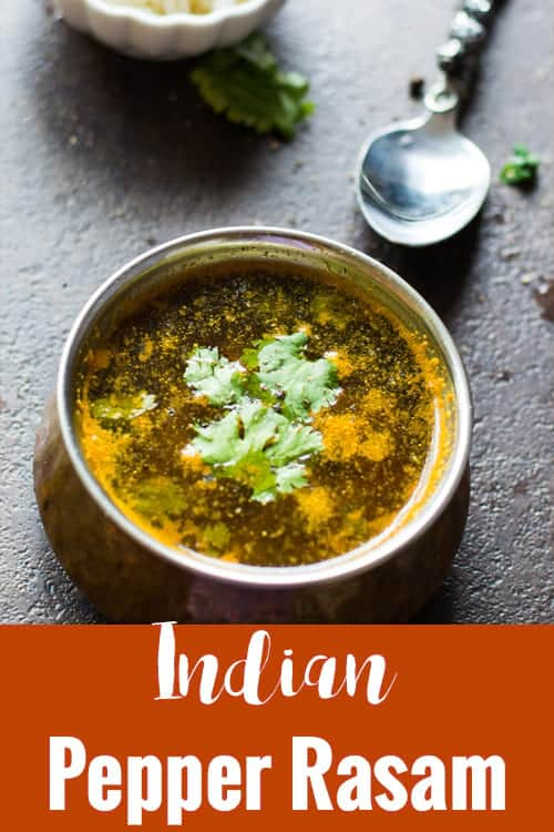 Pepper rasam otherwise also called as Milagu rasam in tamil. A simple, every day recipe of Tamil cuisine. Made with black peppers and garlic which is believed to have tones of medicinal values.
