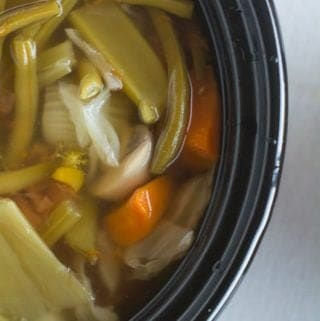 Homemade vegetable broth slow cooker recipe