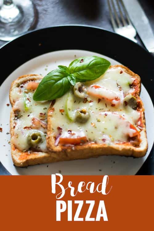 Making Bread pizza without oven is the simplest of all pizza recipes. This vegetarian Indian style recipe on made on tawa/pan. Best for kid's breakfast.