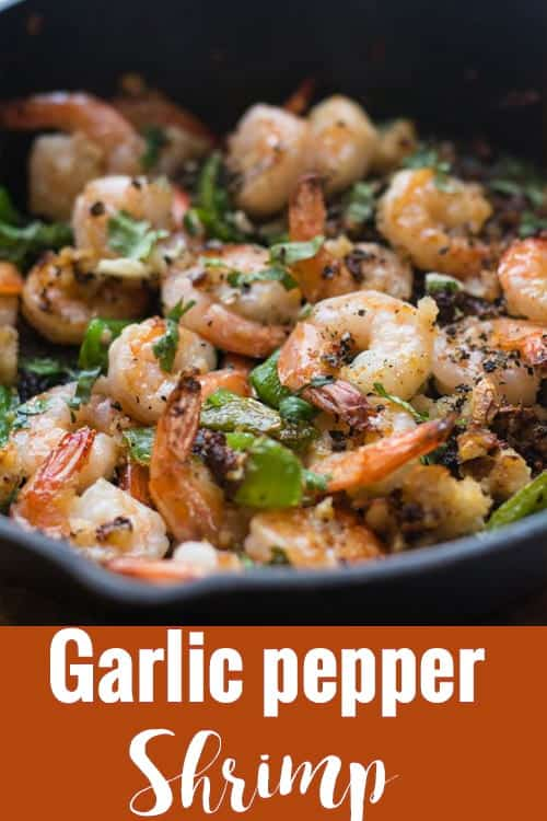 Garlic pepper shrimp recipe, made spicy with black and green pepper in 15 minutes. This stir fry is best to serve with pasta or brown rice. Perfect meal for dinners and you also be serve as appetizers.