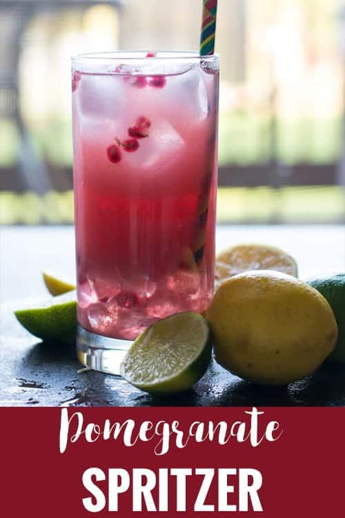 Pomegranate spritzer recipe with step by step pictures. A healthy drink perfect for everyone in the family and perfect for any occasion, for party or for personal.