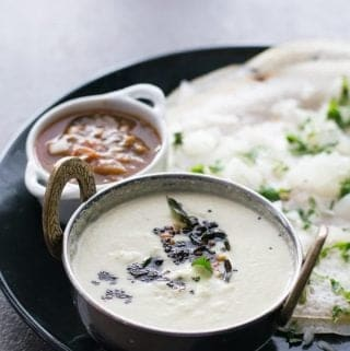How to make coconut chutney this is the common question that would pop up in everyone's mind whenever they are want to make a South Indian breakfast