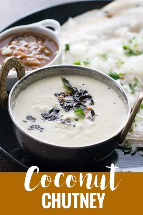 How to make coconut chutney? Well, this is an easy side dish recipe for Idli or for Dosa or for any other South Indian breakfast. Simple to make with few ingredients.