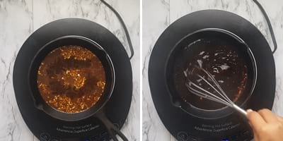 step 2. cooking the sauce mixture