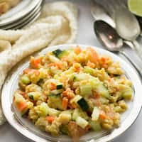 Mashed Chickpea Salad Recipe