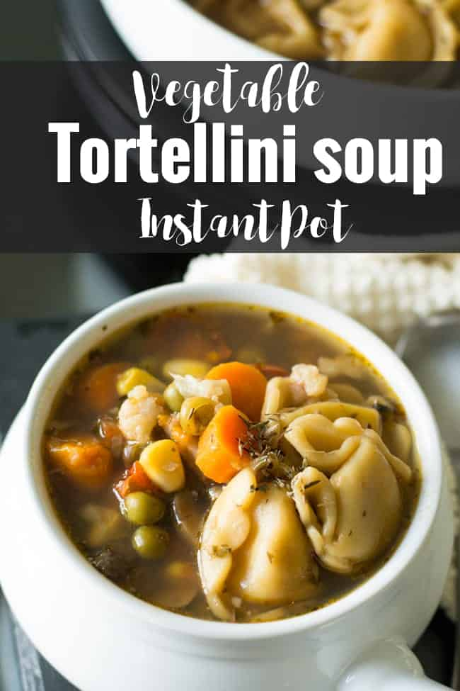 Tortellini vegetable soup is a comforting Italian-American soup made with Instant pot. This Tuscan soup does tastes amazing with the tender tortellini which just melts in your mouth.