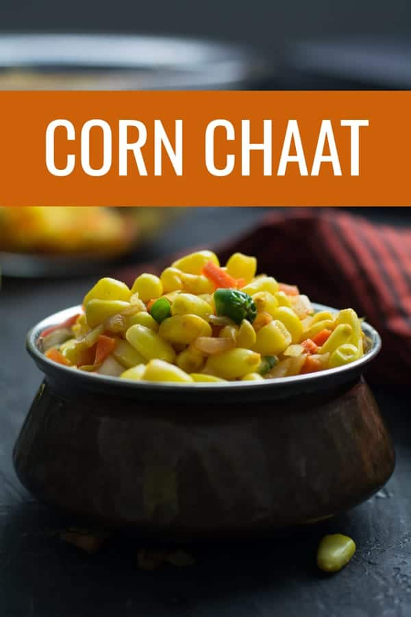 Corn chaat is actually a spiced Indian corn salad. One of the most popular Indian street food recipes made with delectable blend of chopped onion, tomato, green chili. A splendid fusion recipe of corn made in Indian style. This is incredibly easy and simple to make.