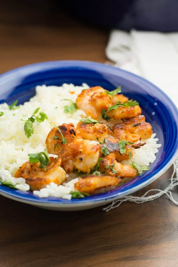Hawaiian shrimp made after Hawaiian food truck's famous recipe. This shrimp scampi is made quick with simple ingredients. Best party appetizer for rice or cocktails.