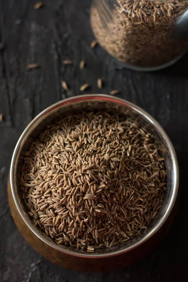 Cumin in a bowl, which is an important condiment throughout Indian. Which has pungent flavor and rich in aroma. Cumin seeds considered as a seasoning ingredient and the ground cumin as a flavoring agent especially in the North Indian cooking.