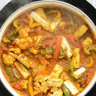 Vegetable jalfrezi recipe, Indian restaurant style Mixed vegetable curry