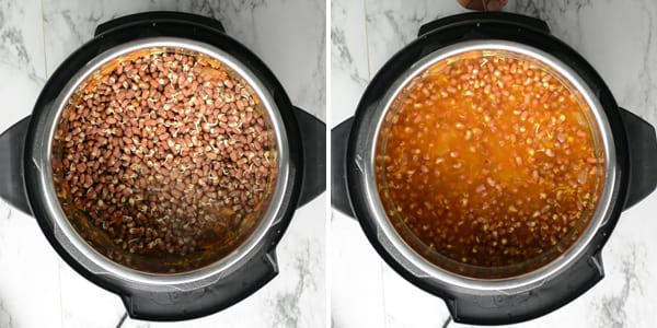 Add fresh tomato puree and sauté until it thickens for making Madras Lentils.
