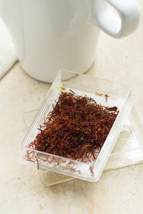 Saffron, the expensive ingredient in this tea, but worth its price.