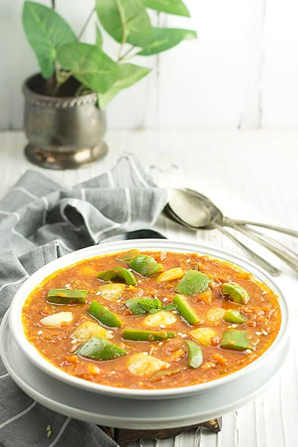 this capsicum curry to the authentic restaurant-style dish and additionally, you can master almost all the Indian recipes.