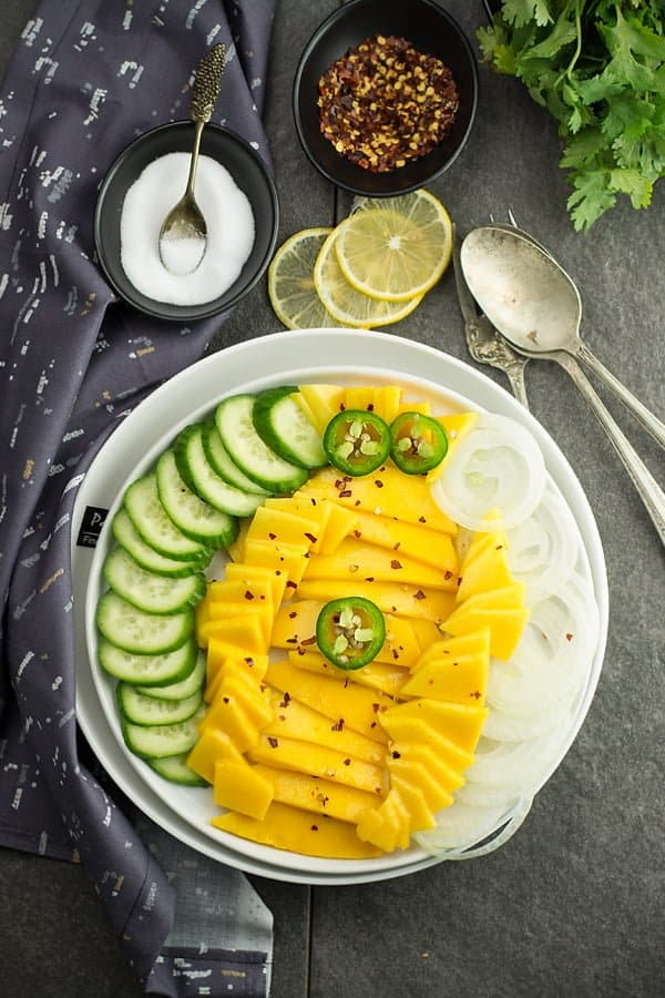 This cucumber mango salad is a sweet alert for you. It is rich and with a delicious combination of textures. The soft texture of mango and the crunchy cucumbers are the pleasing contrast that you will fall in love with.