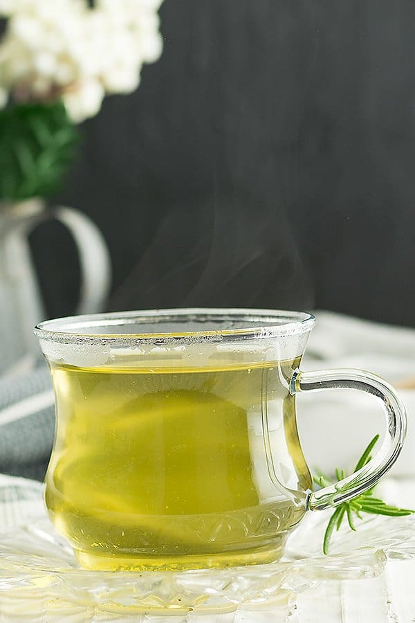 Ginger fennel tea, this is the popular variation. But fennel tea with cumin seeds, coriander seeds, peppermint, basil are also tastes delicious.