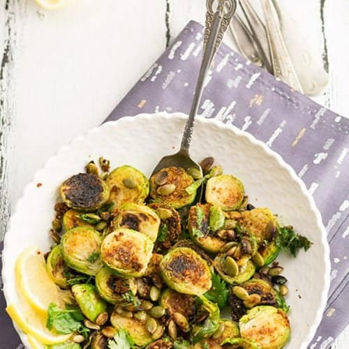 Indian Brussel sprouts recipe is a convenient recipe for party or potluck. Made with sunflower seeds and Indian spice powder. Very easy to put it together in a few minutes.