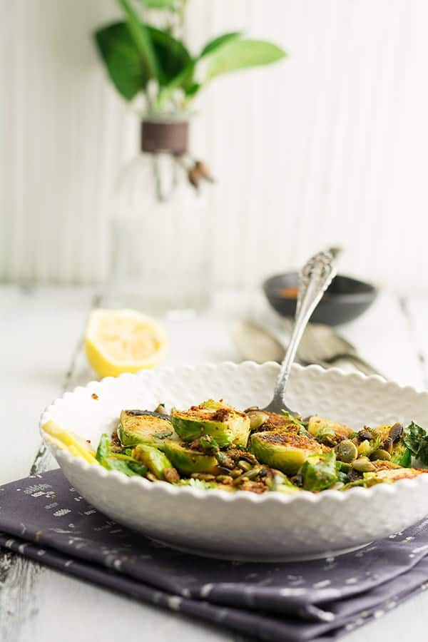 Indian Brussel sprouts recipe is a convenient recipe for a party, potluck or for a trip. Very easy to put it together in barely in a few minutes. Another advantage is it just requires a beginner level expertise in cooking.