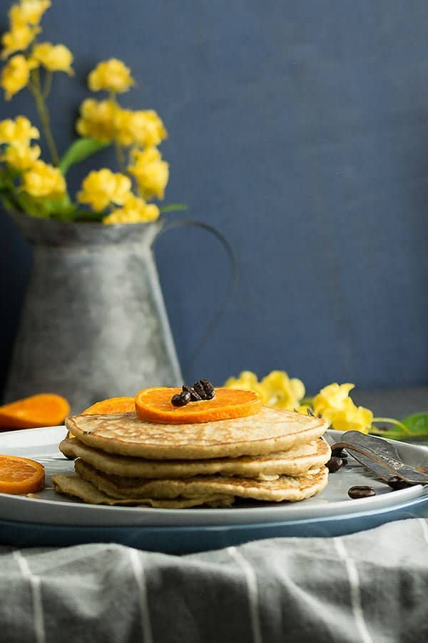 the pancake and coffee together, this wholewheat coffee pancake recipe that stole our hearts and hopes yours as well. A super fancy morning dish that transformed from the classic pancake recipe. Yet another failproof recipe for making a delicious and easy pancake in the skillet with the goodness wholewheat flour and egg.