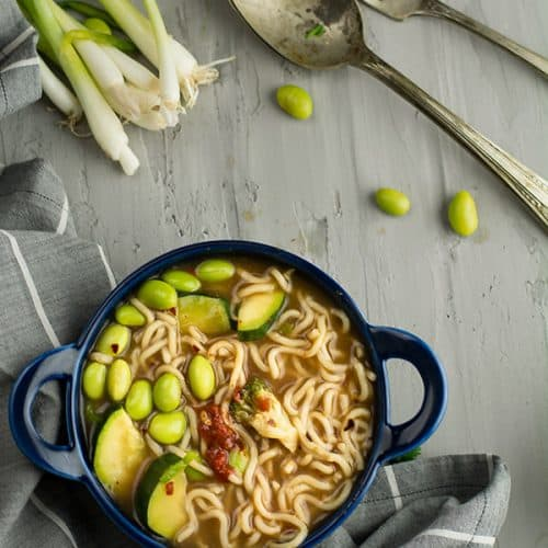 This spicy ramen noodles recipe is easy, simple recipe that I brought home a delicious Chinese dish under 30 minutes. This Chinese stye dinner menu is healthy, skinny, light and definitely not loaded with tones of calories.