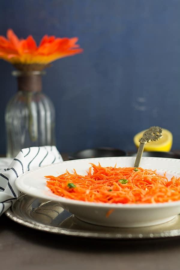 carrot in white bowl