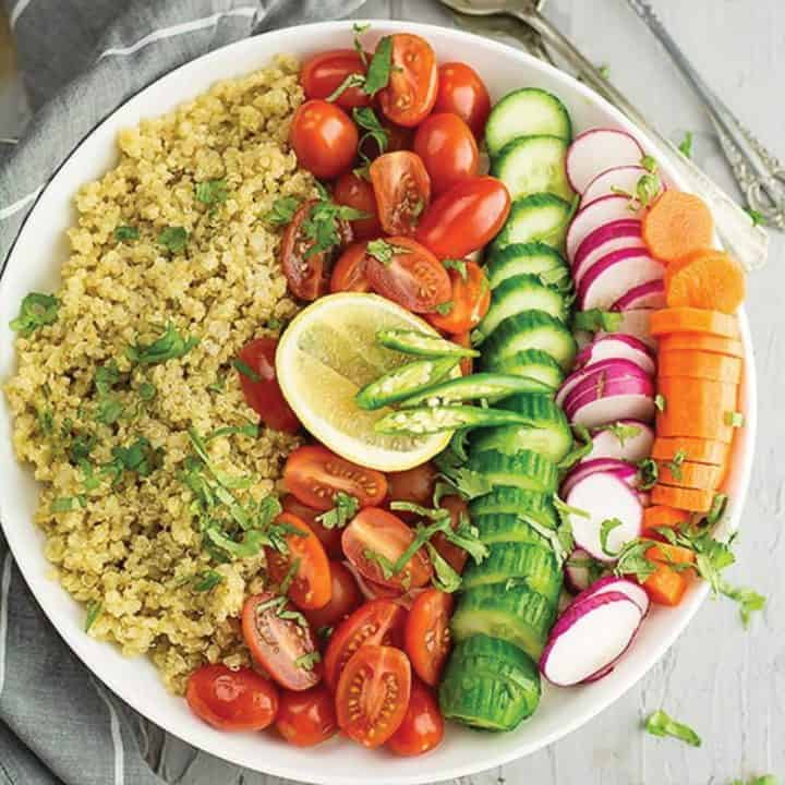 indian quinoa salad