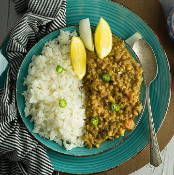 Mung bean curry is an Indian style curry and with the ingredients that are easily available. Very flavourful side dish best to serve with rice or naan.